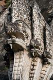 Serpentes antigas do Naga em Chiang Mai Imagens de Stock