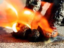 Serpentes pretas dos fogos-de-artifício do incêndio Fotografia de Stock Royalty Free
