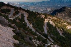 Serpentienen nas montanhas de catalonia imagens de stock royalty free