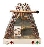 Serpentin d'évaporateur central de climatiseur d'isolement Photographie stock libre de droits