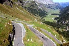 Serpentina in alpi svizzere, Svizzera Fotografia Stock