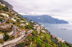Serpentina - Amalfi Imagenes de archivo