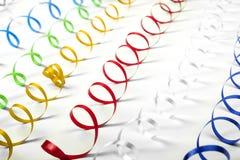 Serpentina colorida Imagen de archivo libre de regalías