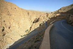Serpentina della valle della gola di Dades Fotografie Stock