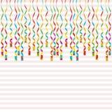 Serpentina isolada no fundo Fitas coloridas Ilustração do vetor A decoração de queda do redemoinho para o partido, aniversário co Imagem de Stock