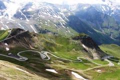 Serpentina nas montanhas Imagens de Stock Royalty Free