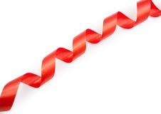 Serpentina rossa del nastro solated Fotografia Stock Libera da Diritti