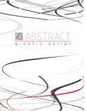 serpentine Πρότυπο με τα μαύρα, κόκκινα και γκρίζα λεπτά λωρίδες Στοκ φωτογραφία με δικαίωμα ελεύθερης χρήσης