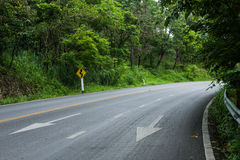 Serpentine дорога стоковое фото rf