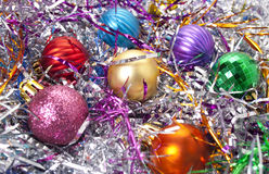 Serpentine. Varicoloured christmas balls on a background a Royalty Free Stock Images