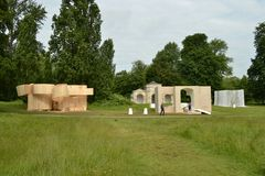 Serpentine art exhibiton Kensington Gardens Park Stock Photography