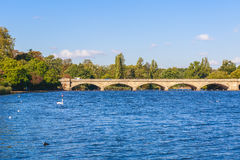 Serpentine Bridge in Hyde Park Stock Image
