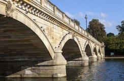 Serpentine Bridge in Hyde Park Royalty Free Stock Photos