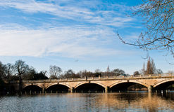 Serpentine Bridge and Lake Royalty Free Stock Images