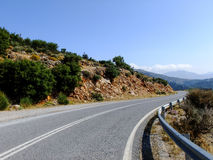 Serpentine in Crete, Greece. Road Curve in the Serpantines of Crete Island in Greece Royalty Free Stock Photos