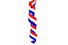 Serpentine curl from the dutch national flag from Netherland Royalty Free Stock Image
