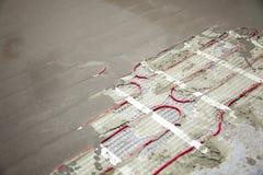 Serpentine di riscaldamento del pavimento Immagini Stock Libere da Diritti