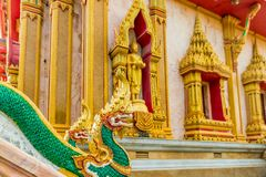 Chalong Temple in Thailand in Asia stock photography