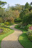 Serpentine garden path Stock Photography
