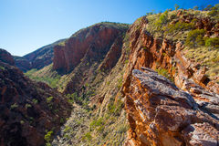 Serpentine Gorge Lookout. The view from the Serpentine Gorge Lookout on a clear winter's day near Alice Springs, Northern Territory, Australia Royalty Free Stock Photography