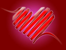 Serpentine heart. Illustration - serpentine heart. symbol of love and indifference in one time Royalty Free Stock Image