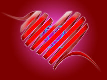 Serpentine heart. Illustration - serpentine heart. with second heart inside. symbol of love Royalty Free Stock Image