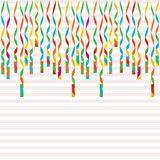 Serpentine isolated on background. Colorful ribbons. Vector Illustration. Falling swirl decoration for party, birthday celebrate, Royalty Free Stock Photography