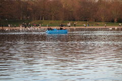 Serpentine Lake en Hyde Park Foto de archivo