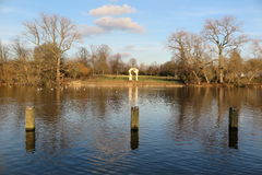 The Serpentine Lake in Hyde Park. London Royalty Free Stock Photos