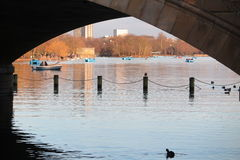The Serpentine Lake in Hyde Park Royalty Free Stock Images