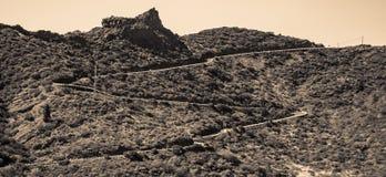 Mountain road to Masca canyon royalty free stock image