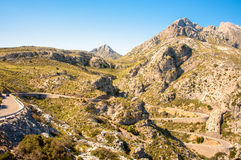 Serpentine in the mountains of Mallorca, Spain Royalty Free Stock Photography