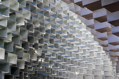 Serpentine Pavilion in Hyde Park. London, UK - October 3, 2016 - The Serpentine Gallery summer pavilion, designed by Danish architects Bjarke Ingels Stock Images