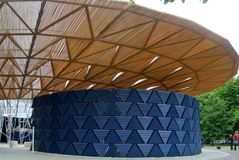 Serpentine pavillon architectural detail during the day in London Stock Image