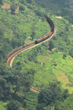 Serpentine railway track Stock Images