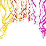 Serpentine Ribbons. Colorful vector serpentine ribbons for birthday or other celebration designs Stock Photo