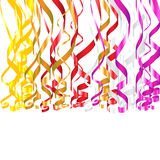 Serpentine Ribbons. Colorful vector serpentine ribbons for birthday or other celebration designs Stock Photography