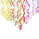 Serpentine Ribbons. Colorful vector serpentine ribbons for birthday or other celebration designs Stock Images