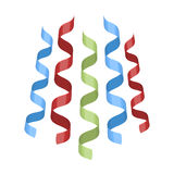 Serpentine, ribbons for the decoration of the party.Party and parties single icon in cartoon style rater,bitmap symbol. Stock web illustration Royalty Free Stock Photo