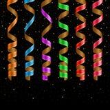 Serpentine ribbons set Royalty Free Stock Photos