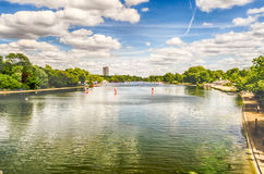 The Serpentine River in Hyde Park, London Stock Photos