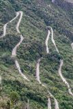 Serpentine Road. Steep winding road leading up to Machu Picchu from Aguas Calientes Stock Photography