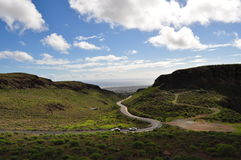 Serpentine road. Road on the Gran Canaria island Stock Photography