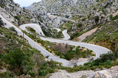 Serpentine road direction sa calobra, majorca Stock Image