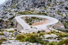 Serpentine road direction sa calobra, majorca Royalty Free Stock Photo