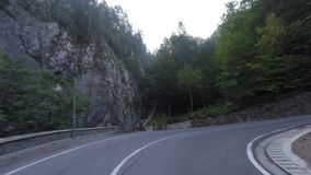 Serpentine road stock video footage
