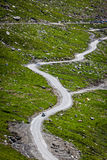 Serpentine road in Himalayas mountains Stock Images