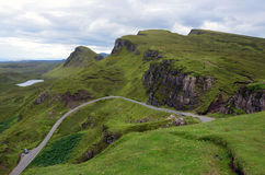 Serpentine Road on Isle of Sky Stock Photography