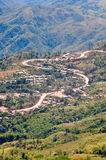 The serpentine road on mountain Stock Photo
