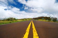 Serpentine road through the mountains on Kauai Stock Photo